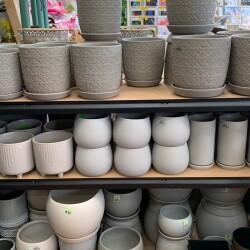 Grey pots